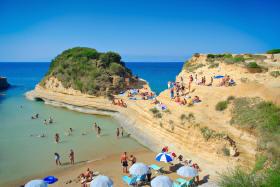 Corfu plaja