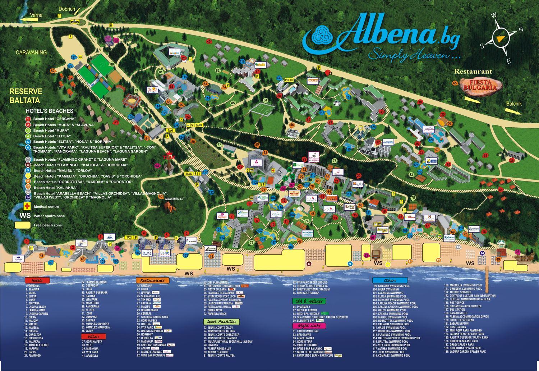 harta Albena Bulgaria