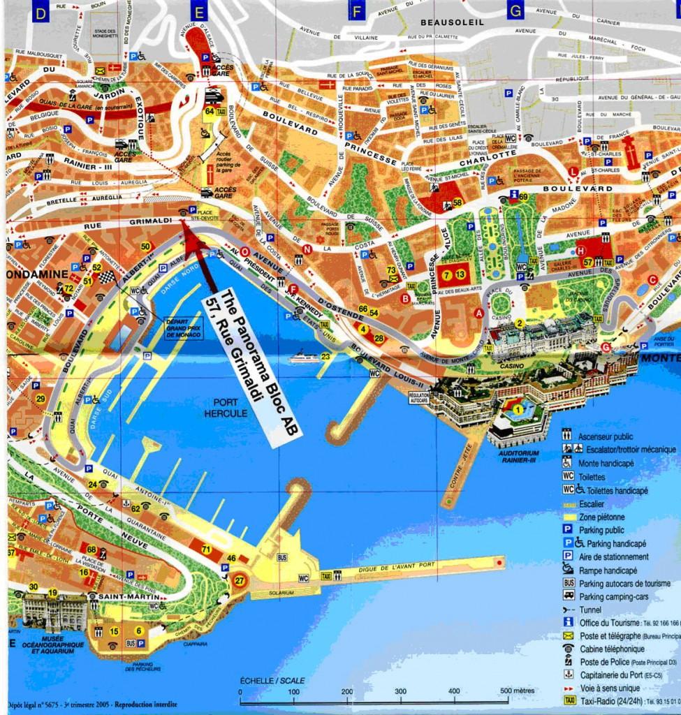 harta Monaco si Monte Carlo