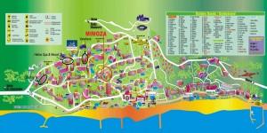 harta statiune Nisipurile de aur Bulgaria