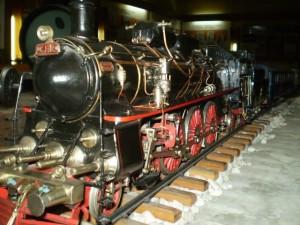 macheta tren la muzeu