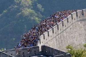 aglomeratie pe marele zid chinezesc