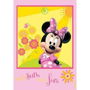 covoras Disney cu Minnie si floricele