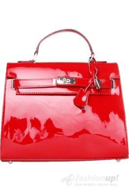 geanta din piele rosie