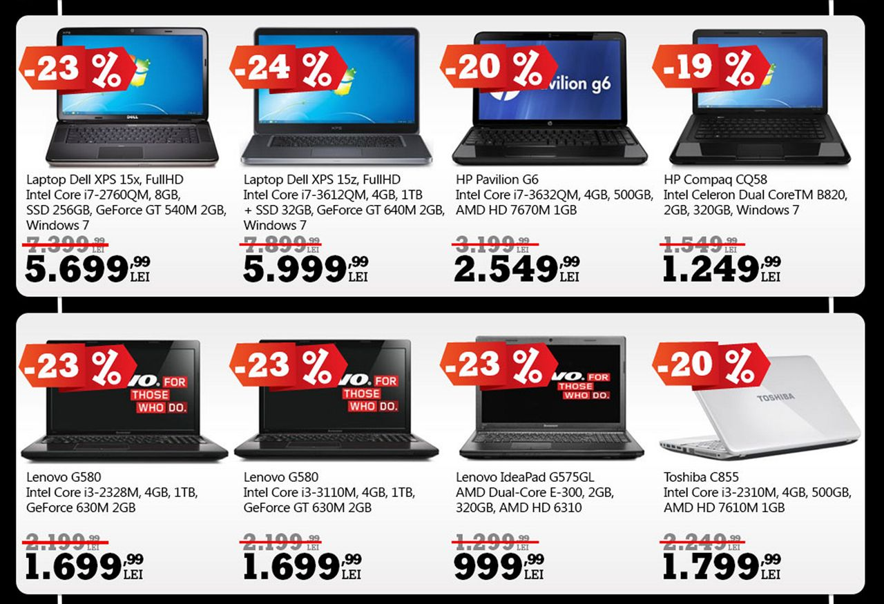reduceri laptopuri Black Friday 2012