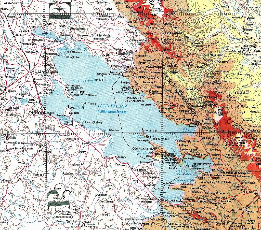 harta lacul titicaca
