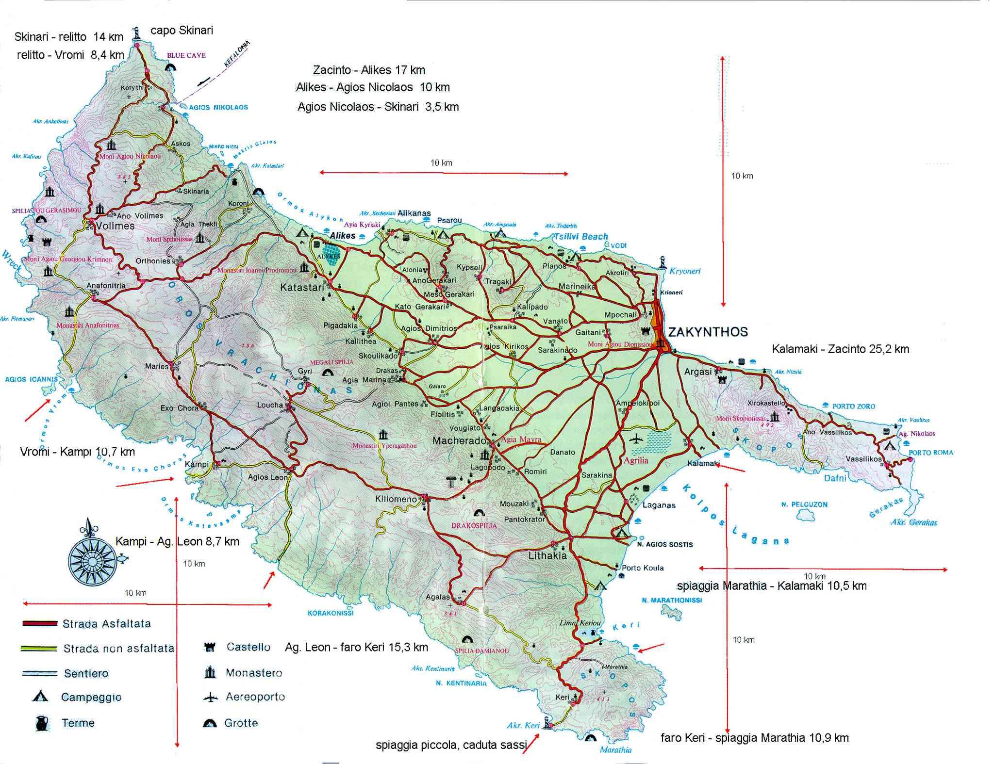 Zakynthos Harta Administrativa Zakynthos Map Blogul Mamicilor