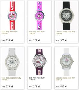 reducere ceasuri copii Hello Kitty