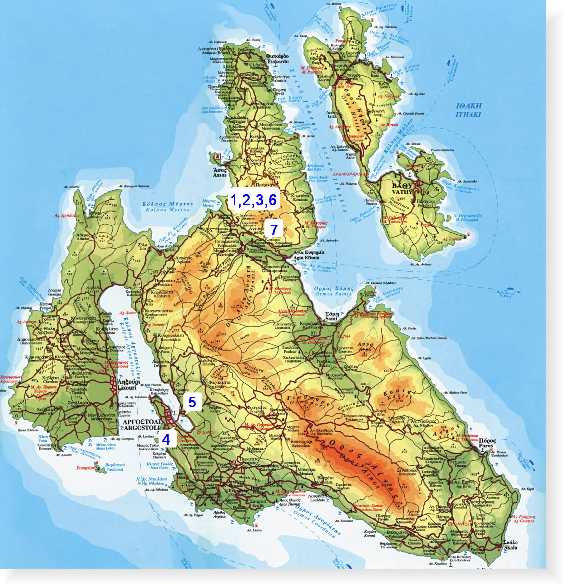 Harta Insula Kefalonia Blogul Mamicilor