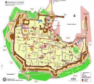 Harta oras medieval Rhodos