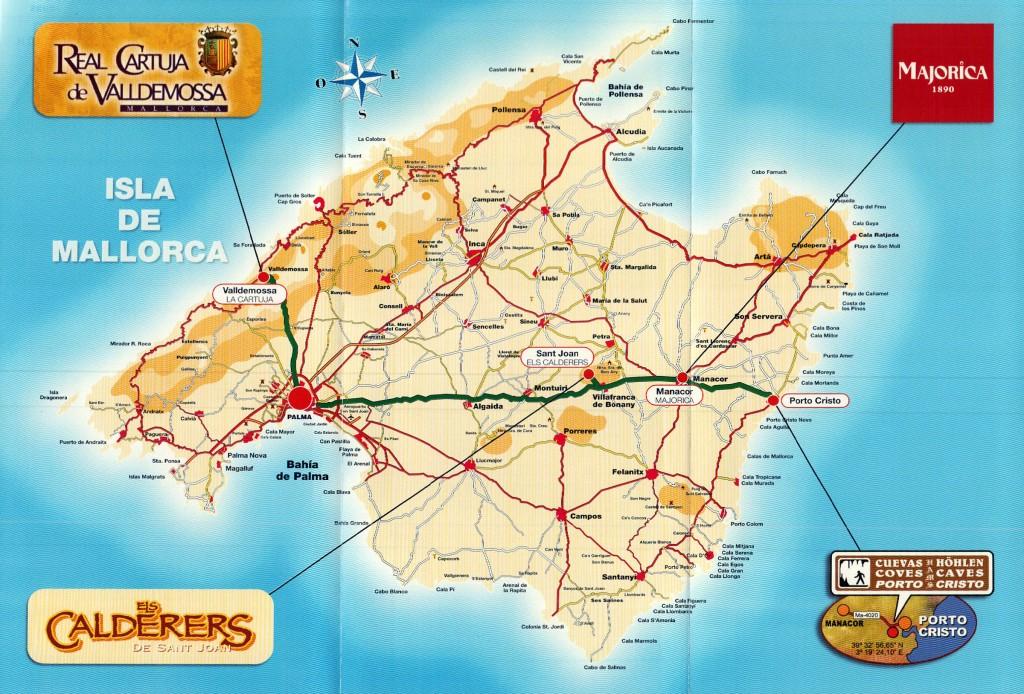 harta insula Mallorca