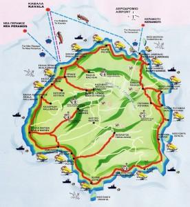Harta insula Thassos