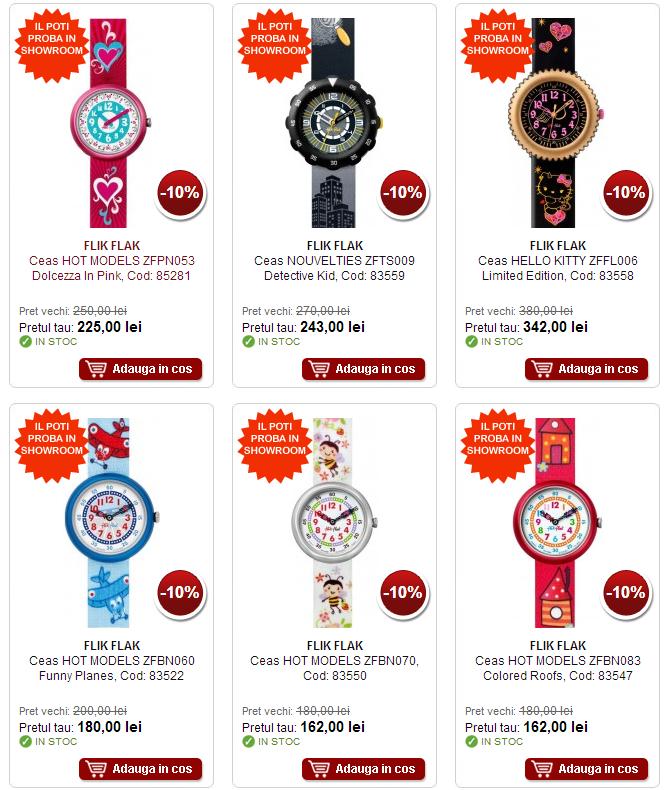 Promotii ceasuri copii