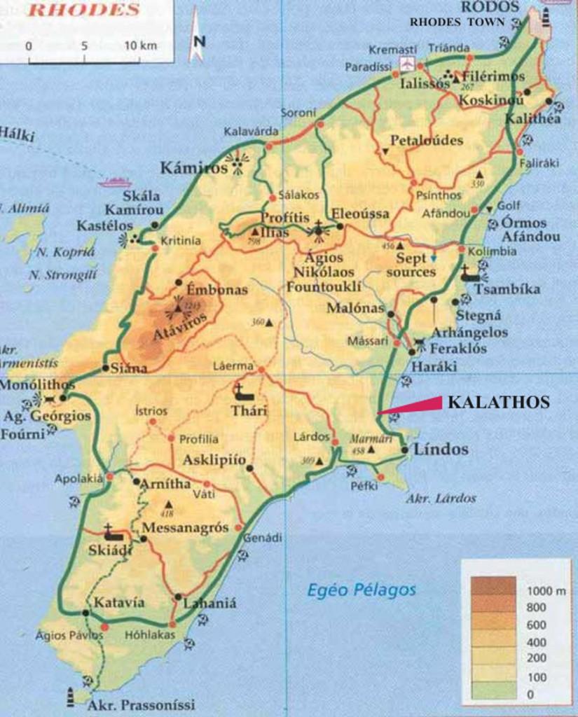 Rhodos Harta turistica
