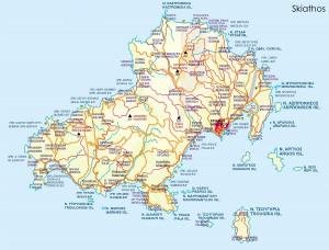 harta insula Skiathos