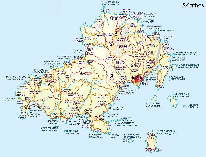 Harta Skiathos Blogul Mamicilor
