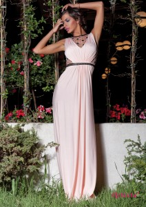 rochie lunga alba