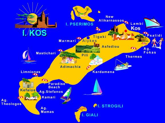 island kos map