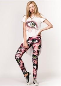 tricou asimetric cu ochi colanti cu imprimeu by Moja.ro
