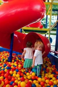 Topogan cu bile si Loc de joaca pentru copii