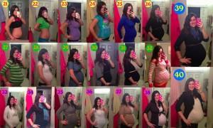 Fotografii din fiecare saptamana de sarcina