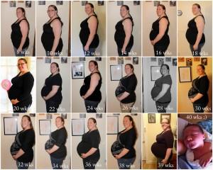 gravida cu burtica in fotografii timp de 40 saptamani de sarcina