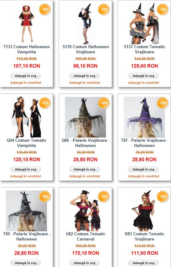 costume vrajitoare halloween