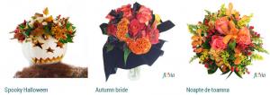 amenajare birou de halloween cu flori sau aranjamente florare