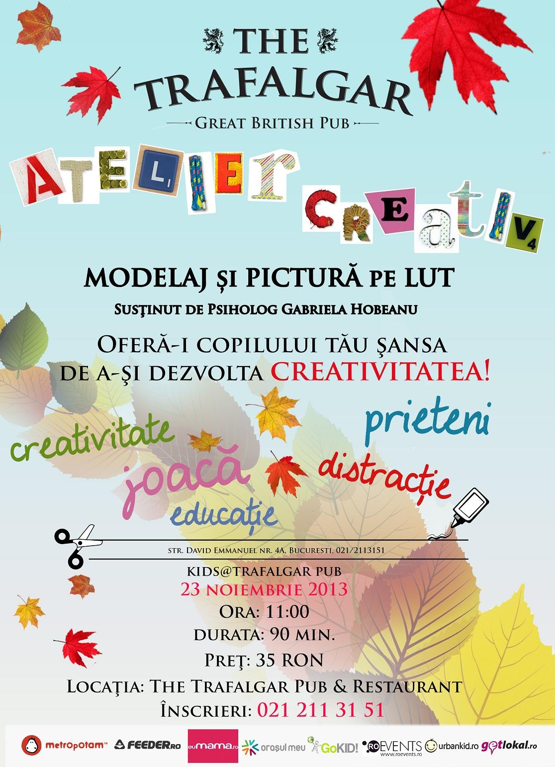 Afis atelier modelaj pictura lut 23 noiembrie - mic