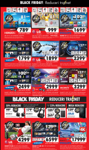 Reduceri black friday televizoare si smart TV emag