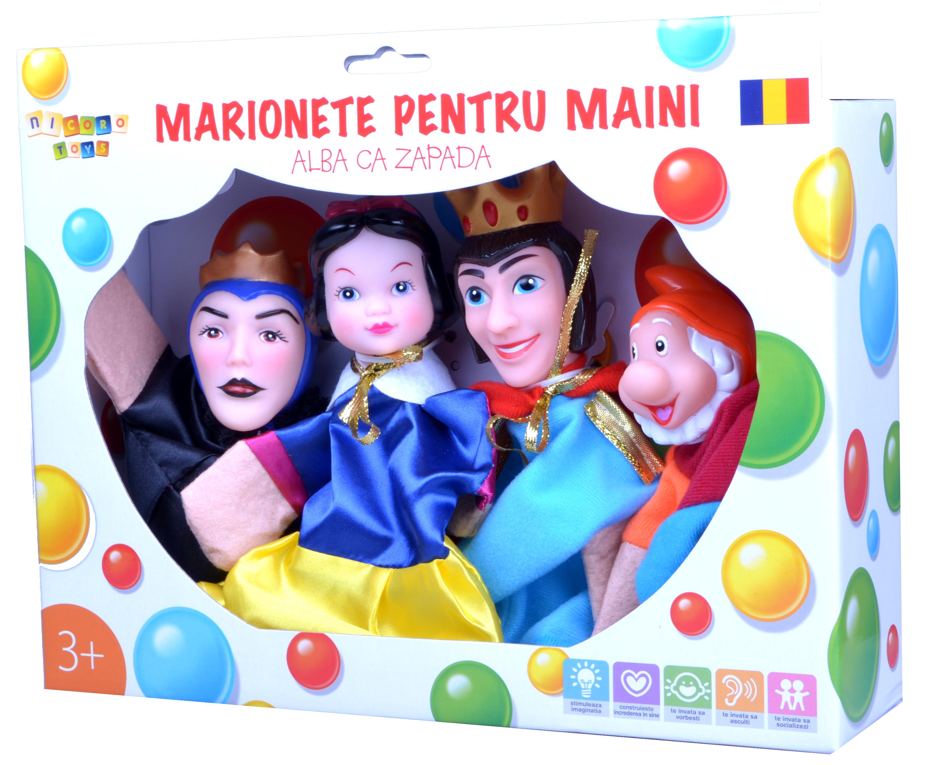 marionete Alba ca Zapada si cei 7 pitici