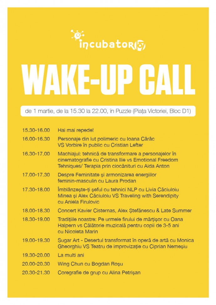 Diurna Incubator 107 Wake-up call desfasurator