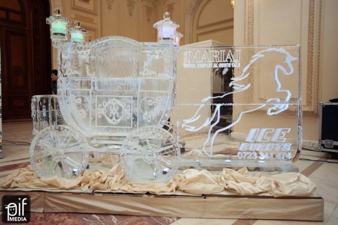 ornamente nunta caleasca de cristal