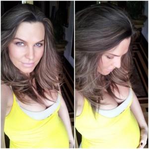 Anna Lesko cu burtica la 7 luni