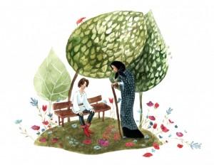Sfânta Vineri și Făt Frumos – Ilustrație de carte de Cristina Radu