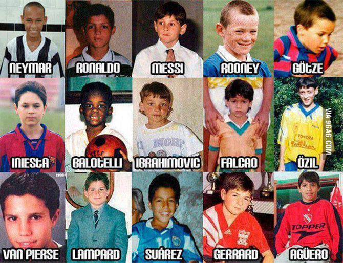 fotografii cu cei mai faimosi fotbalisti copii