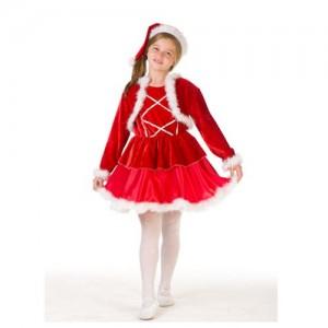 costume craciunite rosu cu fusta, vesta si caciula