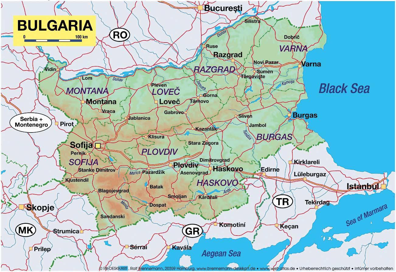 Harta Bulgaria Blogul Mamicilor
