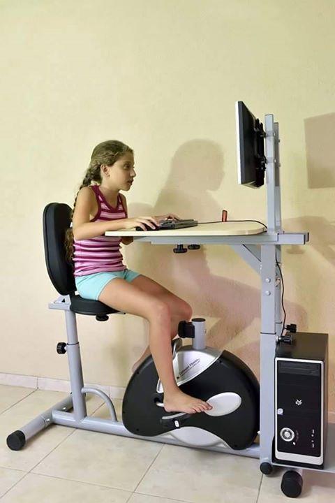 computer cu pedale de bicicleta