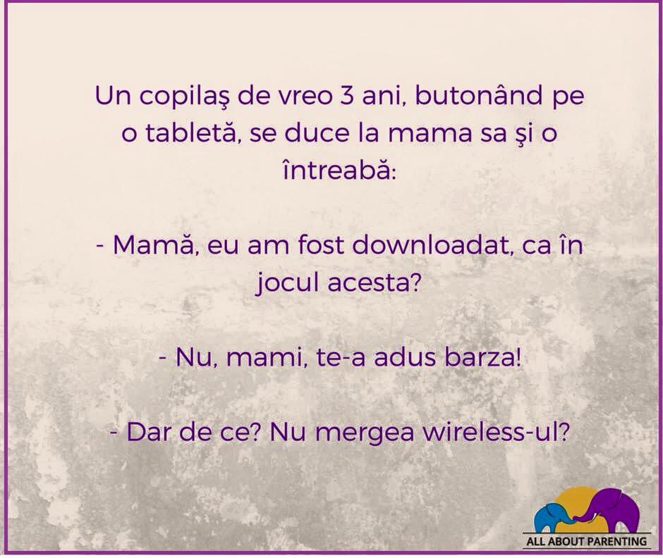 Copiii se nasc pe internet