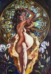 Un tablou ce surprinde frumusetea trupului gravidei